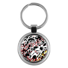 Colorful chaos by Moma Key Chains (Round)
