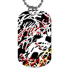 Colorful chaos by Moma Dog Tag (One Side)