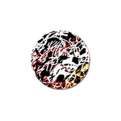 Colorful chaos by Moma Golf Ball Marker