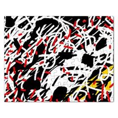 Colorful chaos by Moma Rectangular Jigsaw Puzzl