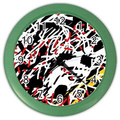 Colorful chaos by Moma Color Wall Clocks