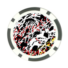 Colorful chaos by Moma Poker Chip Card Guards