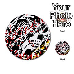 Colorful chaos by Moma Multi-purpose Cards (Round)