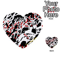 Colorful chaos by Moma Multi-purpose Cards (Heart)