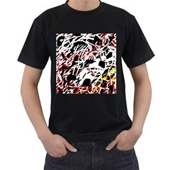 Colorful chaos by Moma Men s T-Shirt (Black)