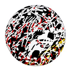 Colorful chaos by Moma Ornament (Round Filigree)