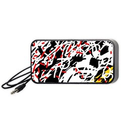 Colorful chaos by Moma Portable Speaker (Black)