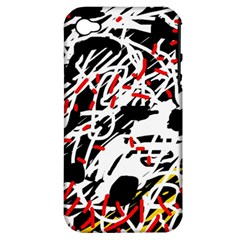 Colorful chaos by Moma Apple iPhone 4/4S Hardshell Case (PC+Silicone)