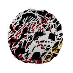 Colorful chaos by Moma Standard 15  Premium Round Cushions