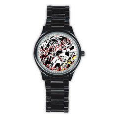Colorful chaos by Moma Stainless Steel Round Watch
