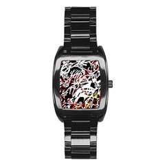 Colorful chaos by Moma Stainless Steel Barrel Watch