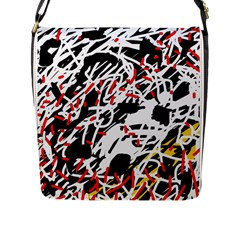 Colorful chaos by Moma Flap Messenger Bag (L)