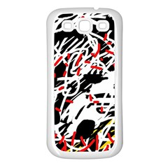 Colorful chaos by Moma Samsung Galaxy S3 Back Case (White)