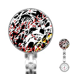 Colorful chaos by Moma Stainless Steel Nurses Watch