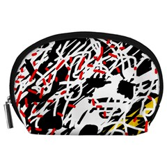 Colorful chaos by Moma Accessory Pouches (Large)