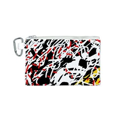 Colorful chaos by Moma Canvas Cosmetic Bag (S)