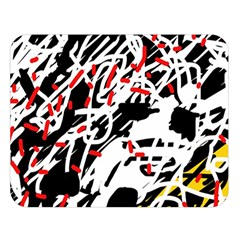 Colorful chaos by Moma Double Sided Flano Blanket (Large)