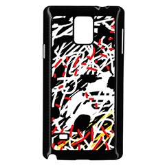 Colorful chaos by Moma Samsung Galaxy Note 4 Case (Black)