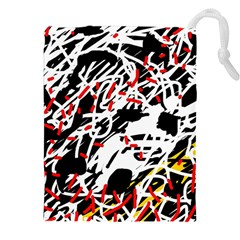 Colorful chaos by Moma Drawstring Pouches (XXL)