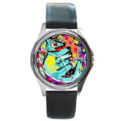 Abstract animal Round Metal Watch