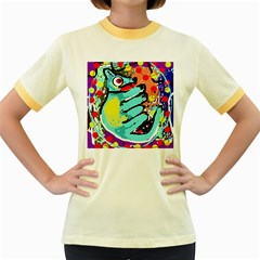 Abstract animal Women s Fitted Ringer T-Shirts