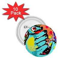 Abstract animal 1.75  Buttons (10 pack)