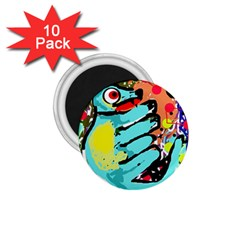 Abstract animal 1.75  Magnets (10 pack)