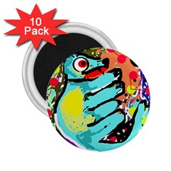 Abstract animal 2.25  Magnets (10 pack)