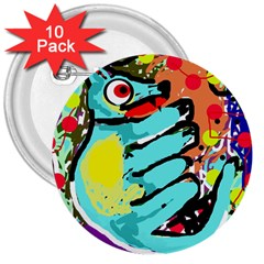 Abstract animal 3  Buttons (10 pack)