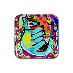 Abstract animal Rubber Coaster (Square)