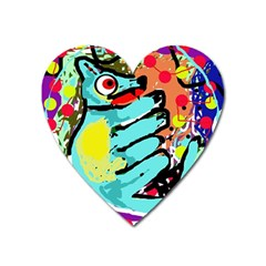 Abstract animal Heart Magnet