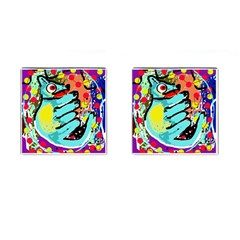 Abstract Animal Cufflinks (square)