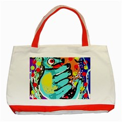 Abstract animal Classic Tote Bag (Red)