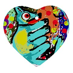 Abstract animal Heart Ornament (2 Sides)