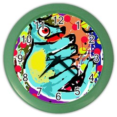 Abstract animal Color Wall Clocks