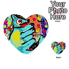 Abstract animal Multi-purpose Cards (Heart)