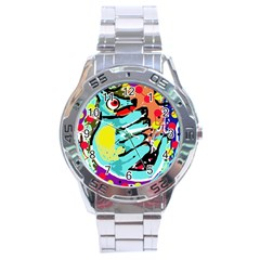 Abstract animal Stainless Steel Analogue Watch
