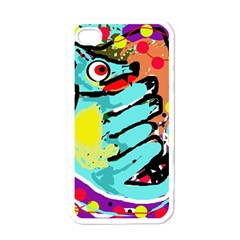 Abstract animal Apple iPhone 4 Case (White)