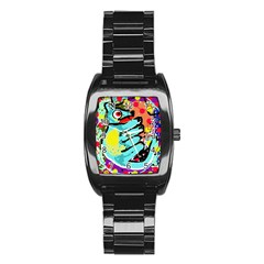 Abstract animal Stainless Steel Barrel Watch