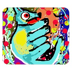 Abstract animal Double Sided Flano Blanket (Small)