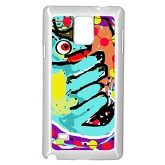 Abstract animal Samsung Galaxy Note 4 Case (White)