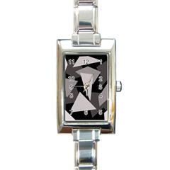 Simple gray abstraction Rectangle Italian Charm Watch