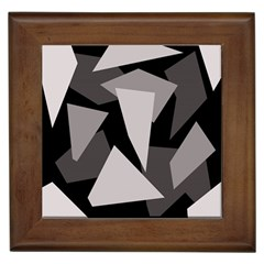 Simple gray abstraction Framed Tiles