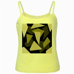 Simple gray abstraction Yellow Spaghetti Tank