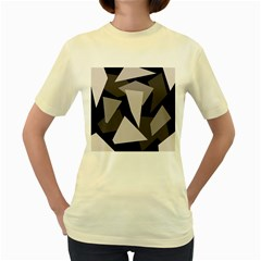 Simple gray abstraction Women s Yellow T-Shirt