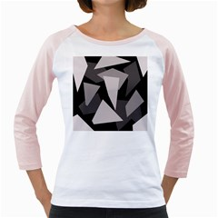Simple gray abstraction Girly Raglans
