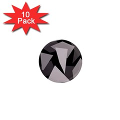 Simple gray abstraction 1  Mini Magnet (10 pack)
