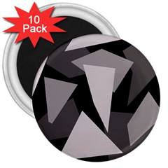 Simple gray abstraction 3  Magnets (10 pack)