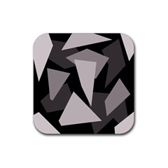 Simple gray abstraction Rubber Square Coaster (4 pack)