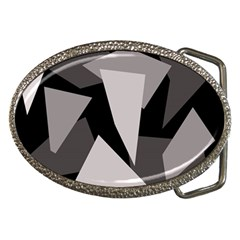 Simple gray abstraction Belt Buckles